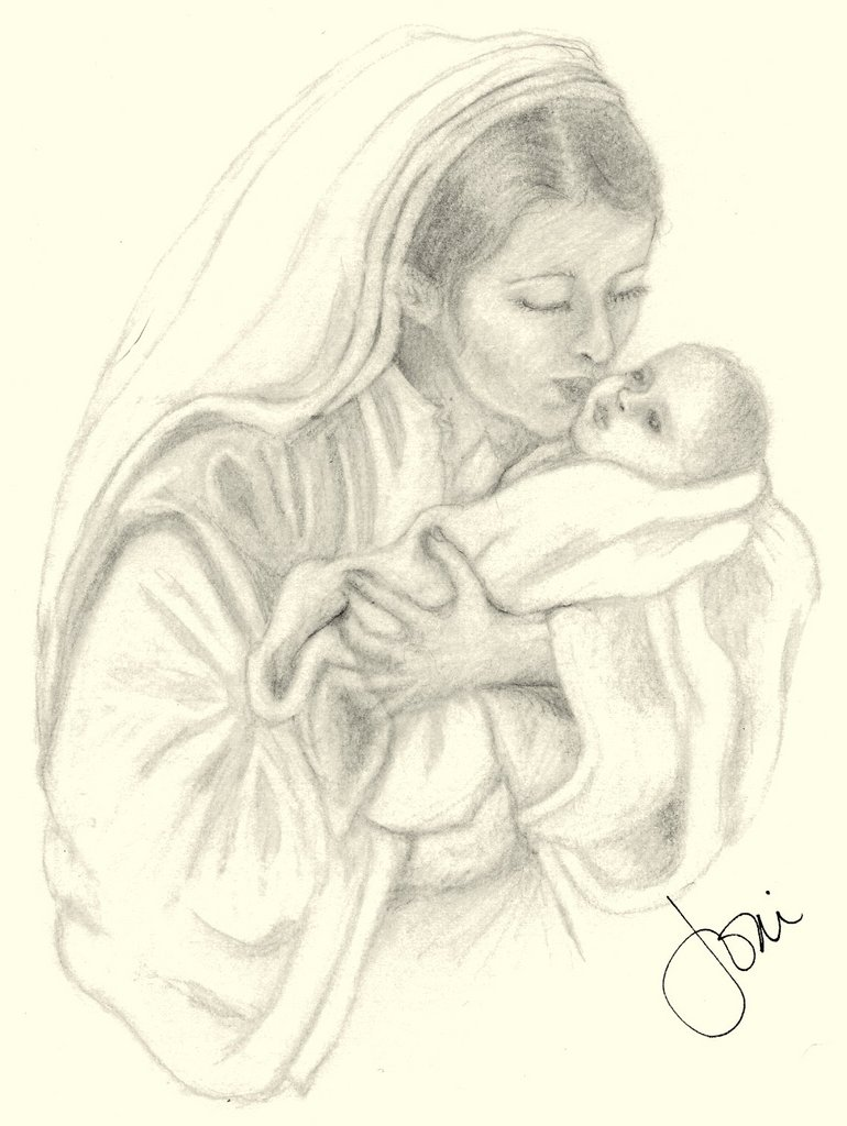 maria14-mary-holding-baby-jesus-sketch